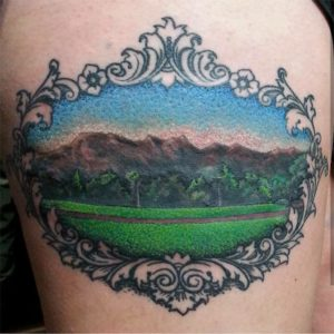 mountains, Shamrock Tattoo Co.